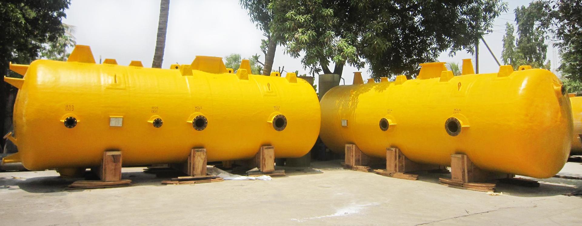 FRP Storage Tanks, Pressure Vessels, Pulp Storage Tanks